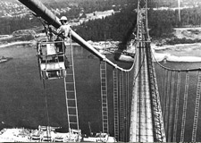 Suspended Scaffolding at Lion's Gate Bridge